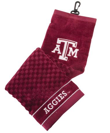 Embroidered Towel Maroon