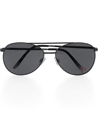 Texas A&M Aviator Sunglasses - Front Black
