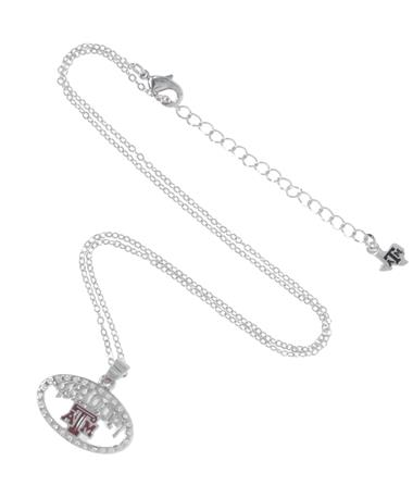 Texas A&M Whoop Necklace Silver