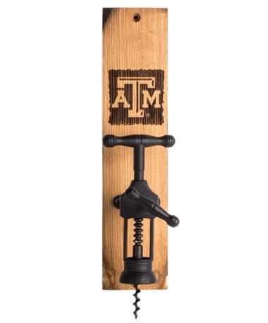 Texas A&M Wine Barrel Wine Bottle Opener TXAM