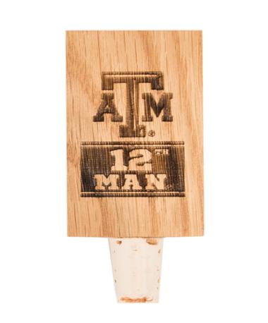 Texas A&M 12th Man Stave Bottle Stopper 12TH MAN