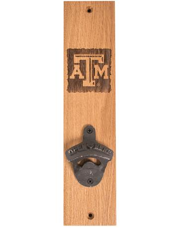 Texas A&M Beveled Logo Stave Bottle Opener