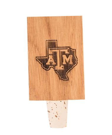Texas A&M Lone Star Stave Bottle Stopper STATE