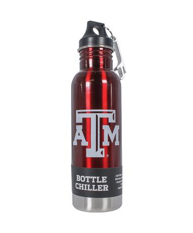 Texas A&M Bottle Chiller & Opener - Front Maroon