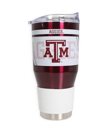 Texas A&M Aggies Twist Ultra Tumbler - Side 1 Maroon/White