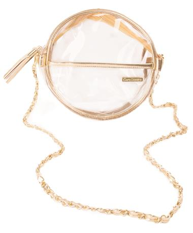 Clear Canteen Crossbody Gold Gold