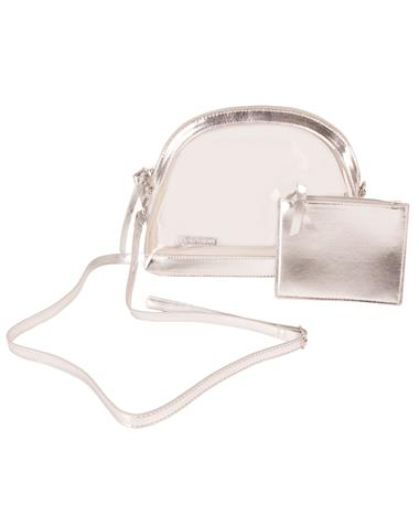 Half Moon Crossbody Silver