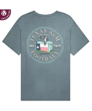 Texas A&M Football And Tailgate T-Shirt - Ice Blue - Back C1717 ICE BLUE