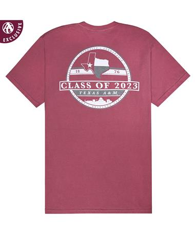 Texas A&M Aggies Class Of 2023 T-Shirt - Back C1717 BRICK