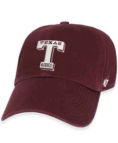 Texas A&M `47 Brand Vault T Clean Up Cap - Maroon - Front Maroon