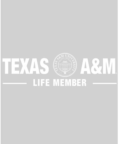 Texas A&M Aggies Life Member Decal