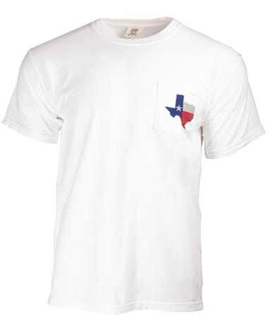 Aggieland Outfitters Texas S/S TShirt-front C1717 WHITE