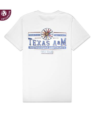 Texas A&M Tradition Football SEC T-Shirt - Back C1717 WHITE
