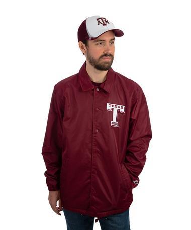 Starter Texas A&M Retro Coaches Jacket Maroon