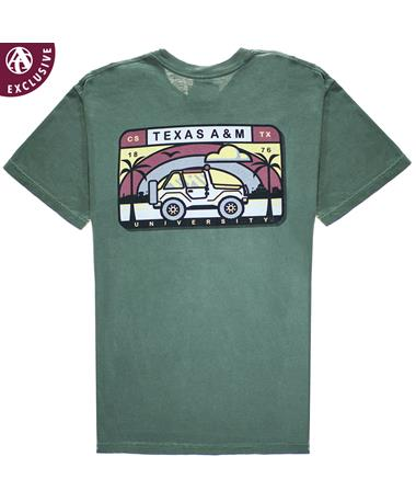 Texas A&M Cruisin` Aggieland T-Shirt - Back C1717 Hemp