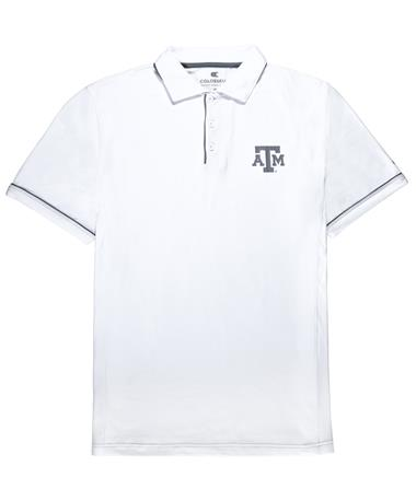 Texas A&M Colosseum Iceland Polo - Front White