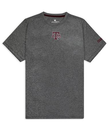 Texas A&M Colosseum Mackay Tee - Front Heather Charcoal