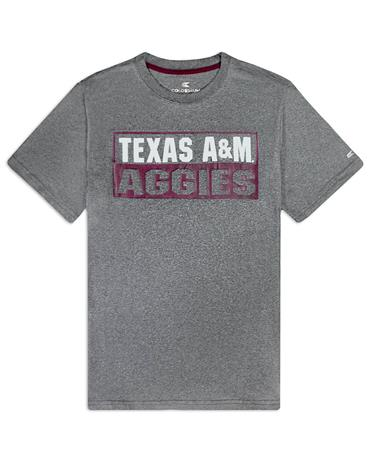 Texas A&M Aggies Colosseum Auchland Tee - Front Heather Charcoal