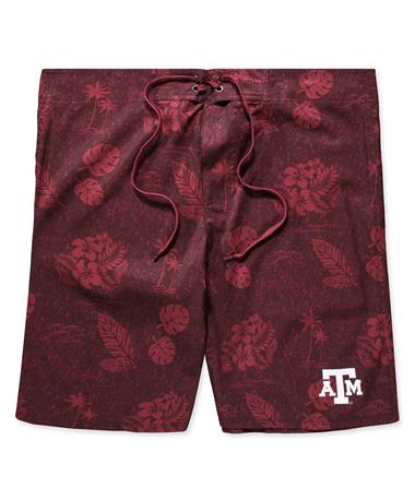 Texas A&M Honolulu Swim Short-Front Maroon