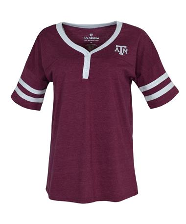 Texas A&M Aggies Florence Henley Top - Front Maroon/White