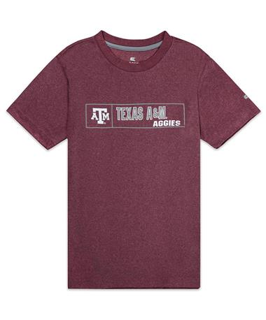 Texas A&M Aggies Youth La Pampa Tee - Front Maroon