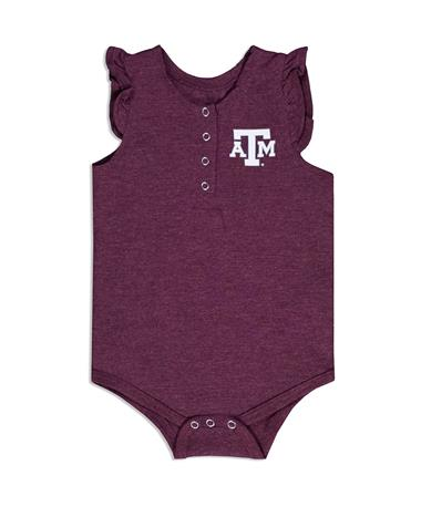 Texas A&M Colosseum Kassel Infant Girls Onesie - Front Maroon