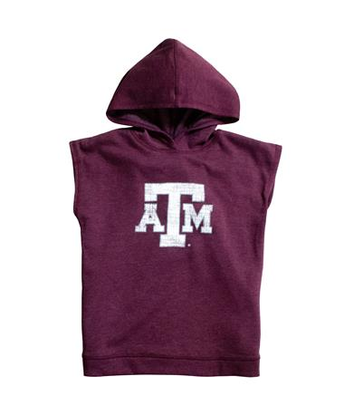 Texas A&M Colosseum Girls Krems Sleeveless Hoodie - Front Maroon