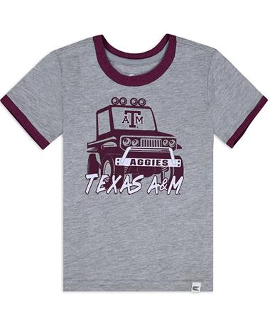 Texas A&M Aggies Toddler Mud Flap T-Shirt - Front Heather Grey