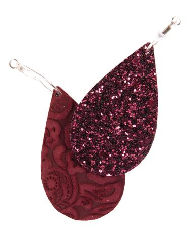 Perfect Pop Aggie Maroon Reversible Earrings MAROON