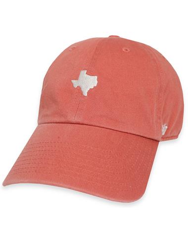 `47 Brand Small Texas State Baserunner Cap - Island Red - Front ISLAND RED