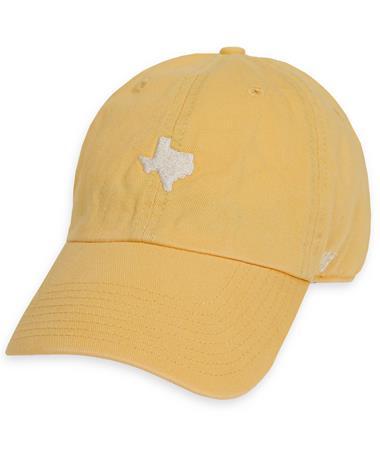 `47 Brand Small Texas State Baserunner - Maize - Front MAIZE