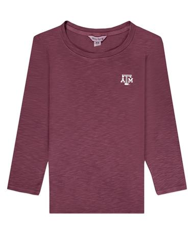 Texas A&M Tommy Bahama Maroon Ashby 3/4-Sleeve Top