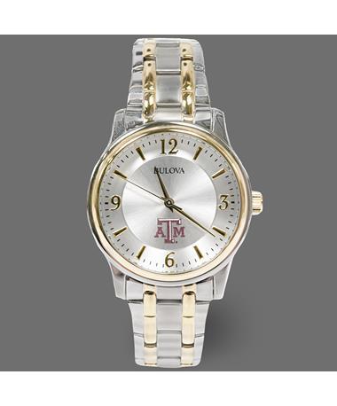 Texas A&M Bulova Men's Two-Tone Watch