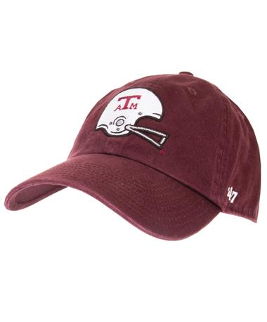 `47 Brand Texas A&M Football Helmet Cap - Front Maroon