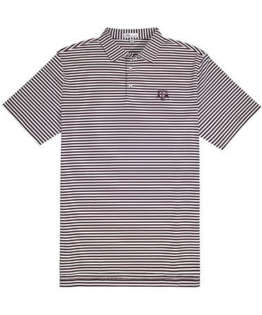Texas A&M Peter Millar Touchdown Polo - Front Maroon