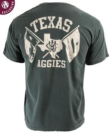 Texas A&M Texas Aggies AMC Double Flag T-Shirt C6030 Willow