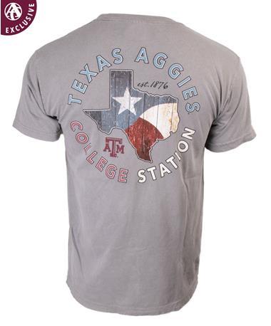 Texas A&M Aggies Wood Shop Texas T-Shirt C1717 Grey