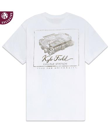 Texas A&M Golden Kyle Field T-Shirt - Back C1717 White