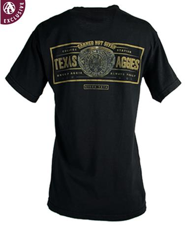 Texas A&M Aggies Once An Aggie Ring T-Shirt C1717 Black