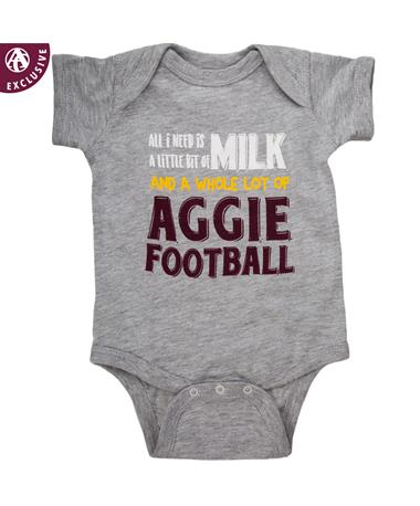 Texas A&M Lot of Aggie Football Onesie 4424 Grey