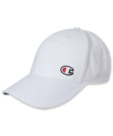 Champion Classic Twill Adjustable Hat - White - Angled White