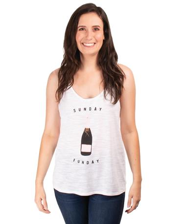 Sunday Funday Tank - Front White