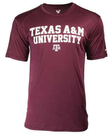 TAMU Badger Basic Ultimate Tee Maroon