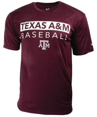 Badger Texas A&M Baseball Ultimate Tee Maroon