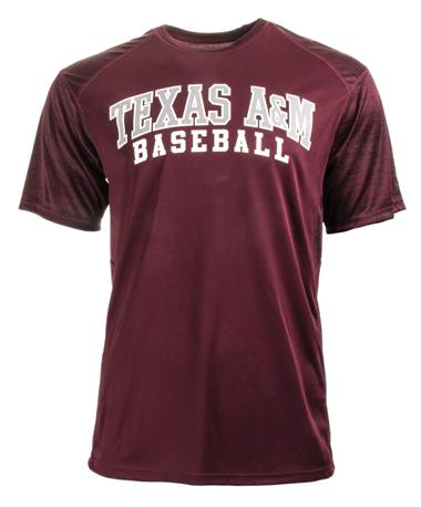 Badger Texas A&M Tonal Blend Baseball Tee - Front Maroon