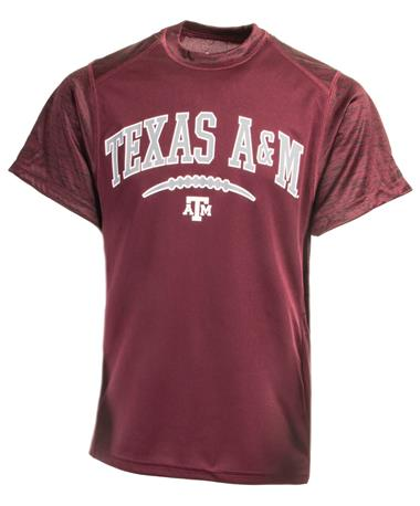 Badger Texas A&M Youth Football Tee - Front Maroon