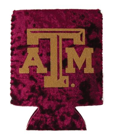 Velvet Maroon And Gold ATM Koozie Gold ATM Koozie