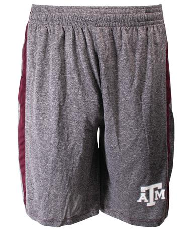 Badger Texas A&M Fusion Short - Front Heather/Maroon