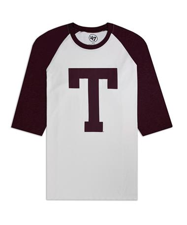Texas A&M `47 Brand Imprint Tee - Front Maroon/White