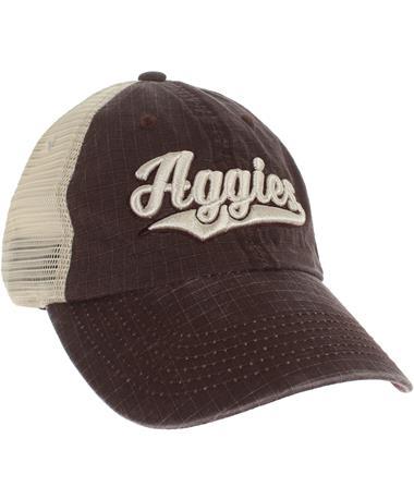 Texas A&M Aggies Raggs Cap - Front Maroon/Stone